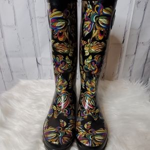 Psychedelic Rain Boots